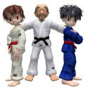 Learn Judo with the Gokyo Gang - characters