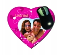 Personalised heart shaped mousepad with your own photo and text