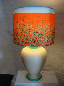 Poppy Lampshade in situ