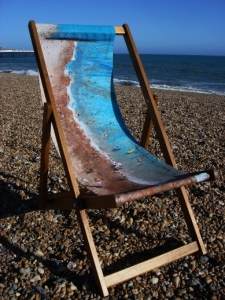 Life's a Beach deckchair by Jacqueline Hammond