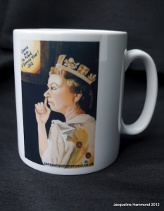 'Queenie Nose She's Picked a Diamond Year' mug