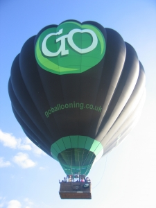 GO Ballooning branded hot air balloon