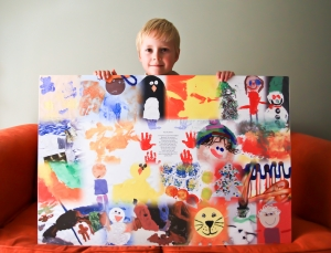 Sample 2 of Oodles of Doodles Children's Art Montage on canvas
