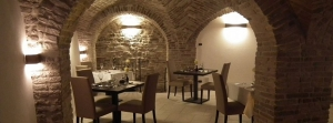 Atmospheric dining in the vaulted ceiling restaurant