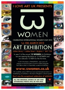 13 Women presented by I Love Art UK - 2013 event poster