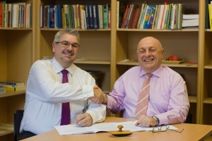 Stuart Walker diP and John Lepine MBE General Manager MSA Signing Strategic Alliance