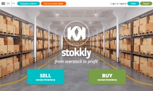 Screen capture of the stokkly website