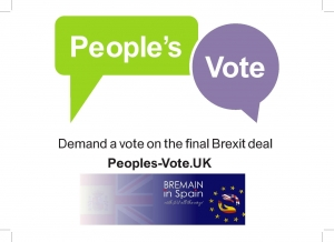 PeoplesVote Campaign with Bremain in Spain