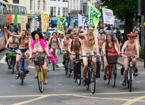 Brighton Naked Bike Ride 2016