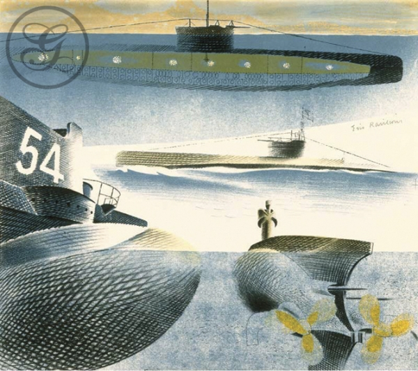 Eric Ravilious: Different Aspects of Submarines: (1941)