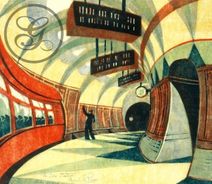 Cyril Edward Powers: The Tube Station