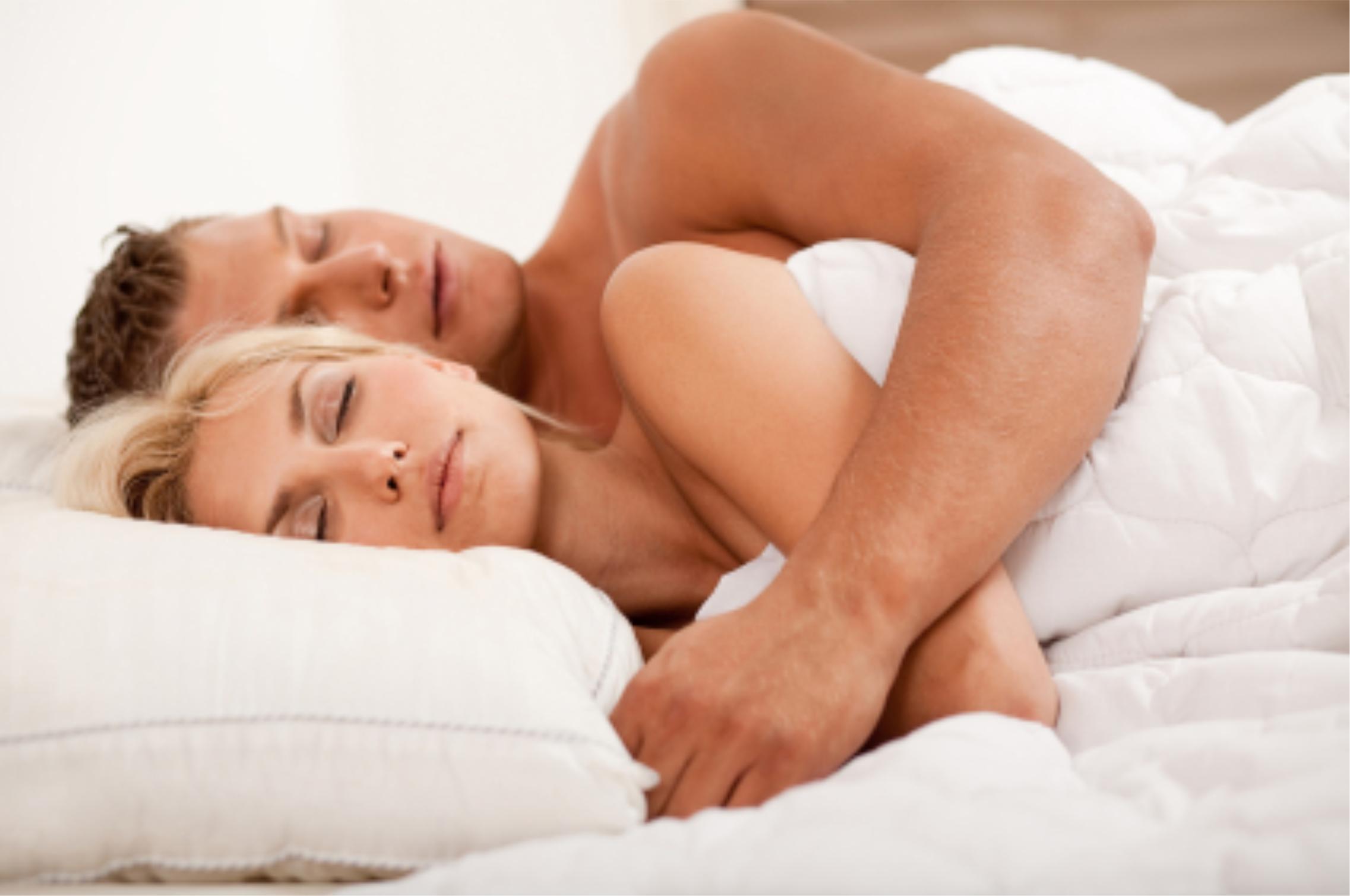Couple sleeping lifestyle shot. Sleeping