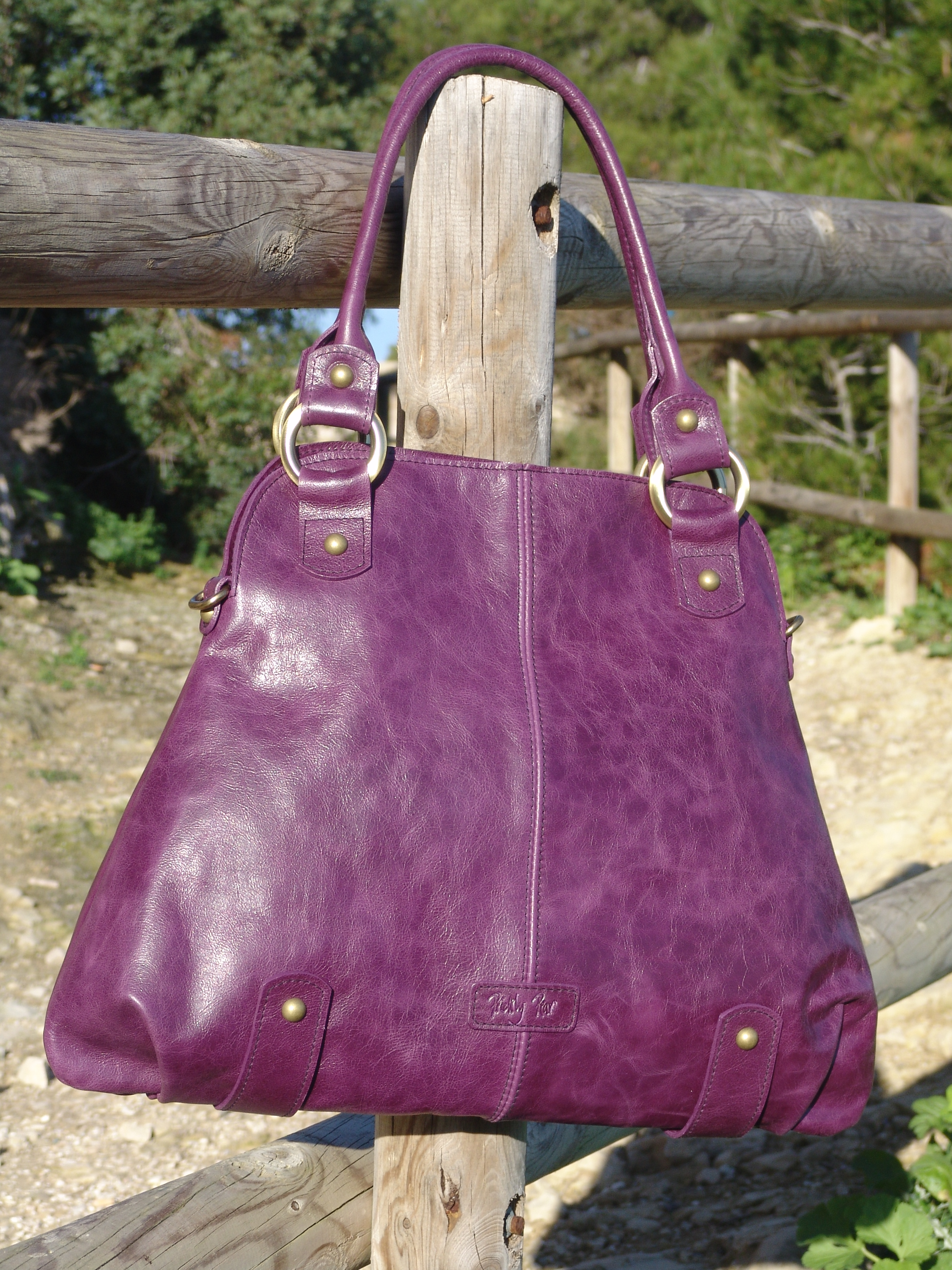 Purple Leather handbags