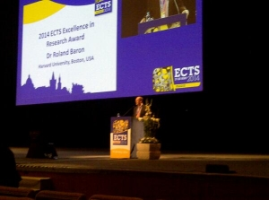 Dr Roland Barron wins 2014 ECTS Excellence In Research award - click for high res image