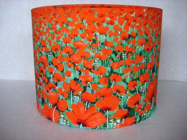 Poppy Fields lampshade - front view