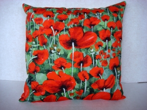 Poppies Cushion - vibrant print