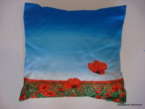 Blowing Poppies cushion
