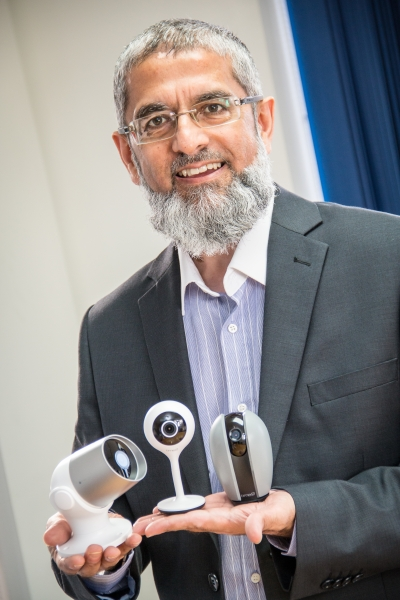 Kam Kothia, CEO, with cameras
