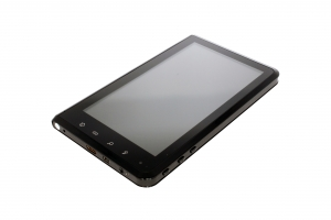 Time2Touch Tablet PC - Front view showing buttons and ports