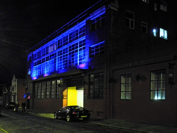 Exterior View of Parr Street Studios & Hotel at Night