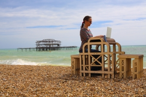 Small is Beautiful - West Pier desk in action