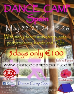 Dance Camp Spain - May 2013 event flyer