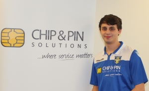 Jonathan Braddick proudly showing off the Blues shirt