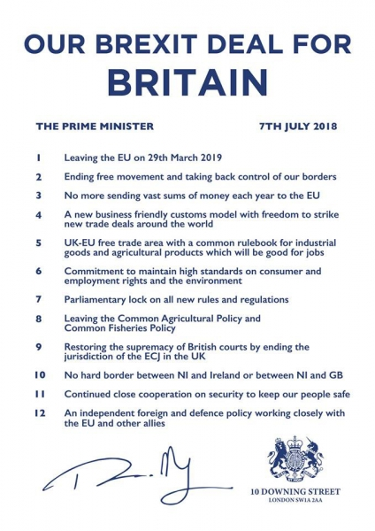 Official Brexit Deal for Britain document