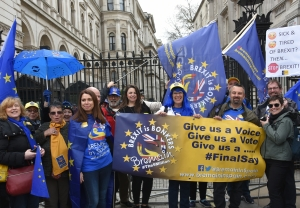 Bremain in Spain members outside 10 Downing Street - click for high res image