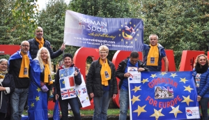 Bremain in Spain members set off on the Manchester march - click for high res image