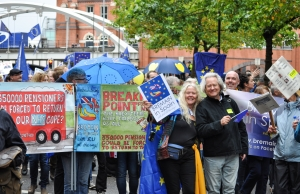 AC Grayling with Bremain in Spain members at Manchester march - click for high res image