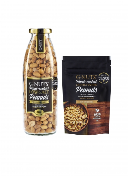 G-NUTS low-salt Peanuts. Deliciously moreish.