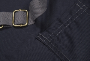 Hibergrill Apron - Navy Detail - click for high res image