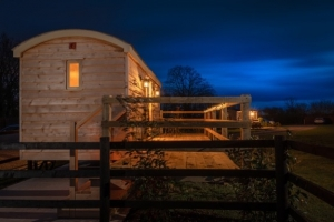 Shepherd Hut Outside - click for high res image