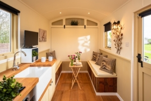 Shepherd Hut Inside Living Space - click for high res image