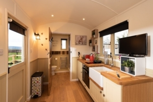 Shepherd Hut Kitchen Area - click for high res image