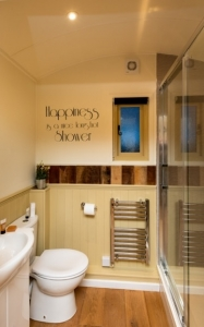 Shepherd Hut Luxury Bathroom Space - click for high res image