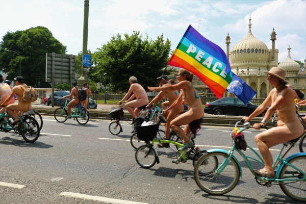 Brighton Naked Bike Ride 2018