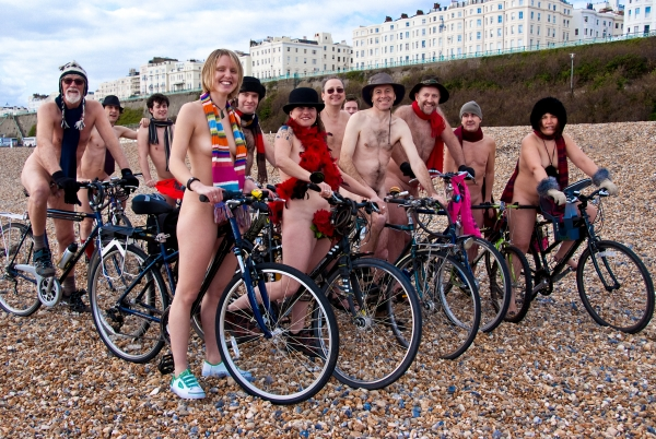 Brighton Naked Bike Ride 2009: Solidarity ride, Sat 14 March 2009