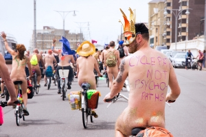 Brighton Naked Bike Ride 2017