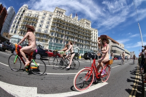 Brighton Naked Bike Ride 2014 - click for high res image