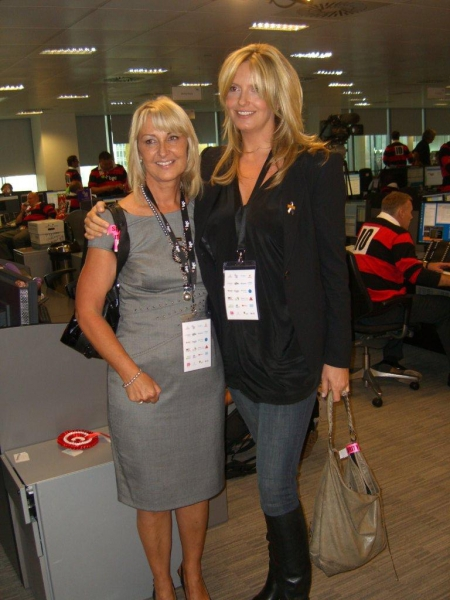 Lorraine Thomas (L) and Penny Lancaster