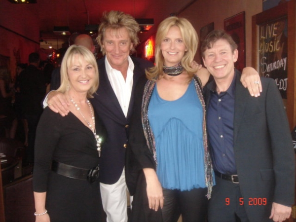 Rod Stewart and patron Penny Lancaster Stewart
