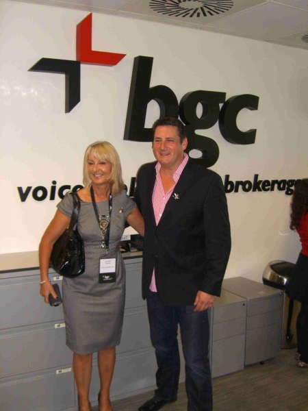 Lowe Syndrome Trust founder Lorraine Thomas and Tony Hadley