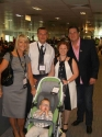 Tony Hadley, Lorraine Thomas and Benjy Harwood with parents Jason and Rebecca
